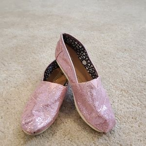 Toms pink sequence shoes